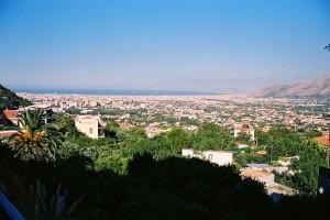 Panoramavy över Palermo. Sicilien.