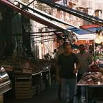 Fiskmarknad i Palermo.