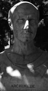 Staty av Arkimedes. Syrakusa.