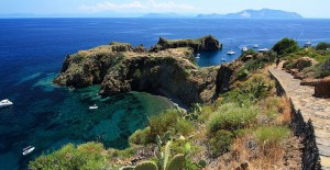 Panarea - Lipariska öarna. Siciliens örike.
