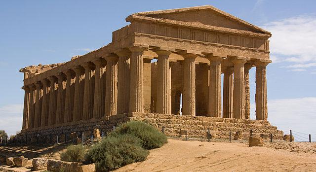Tempel Concordia i Agrigento. Sicilien.